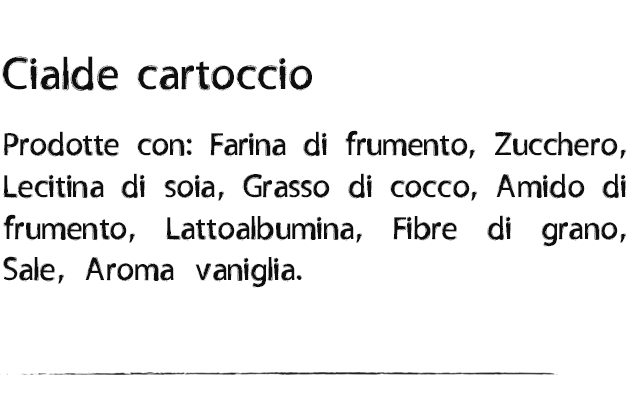 Ingredienti Cialde cartoccio
