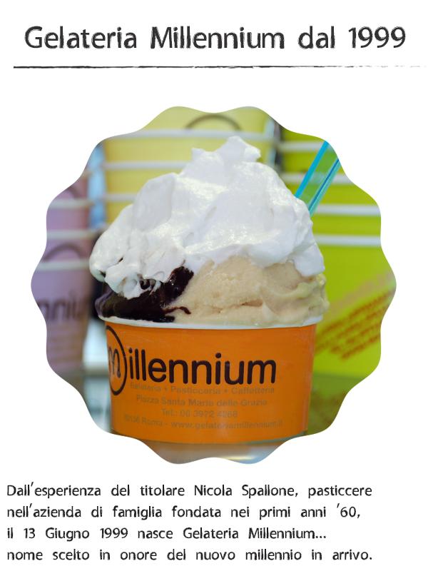 Gelateria Millennium dal 1999 a Roma Prati