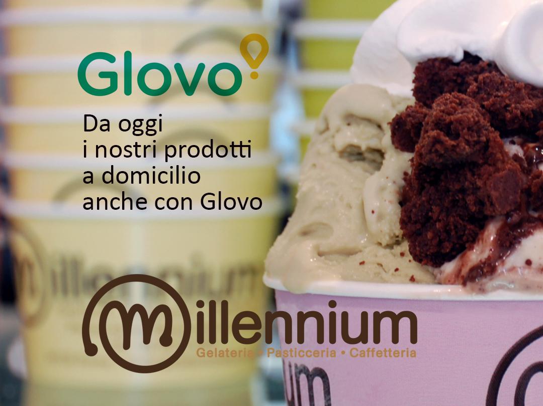 I prodotti MIllennium a casa vostra con Glovo