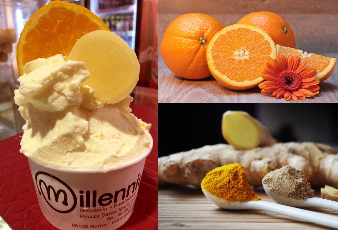 Gelateria Millennium - Gelato con arance e zenzero