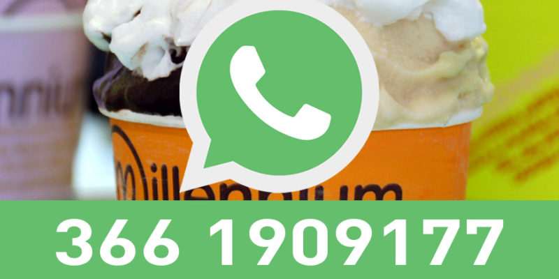 Contatto WhatApp Gelateria Millennium