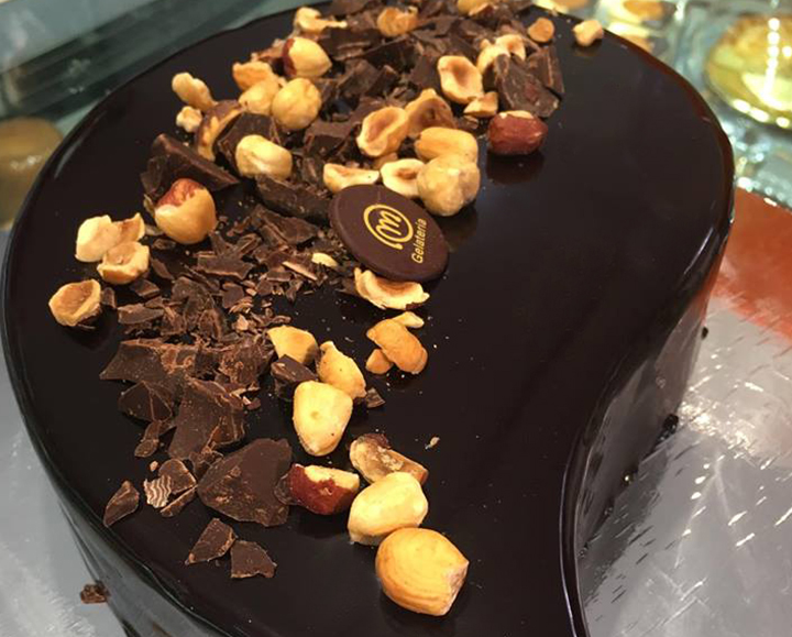 Semifreddo al cioccolato e nocciola - Gelateria Millennium a Roma Prati