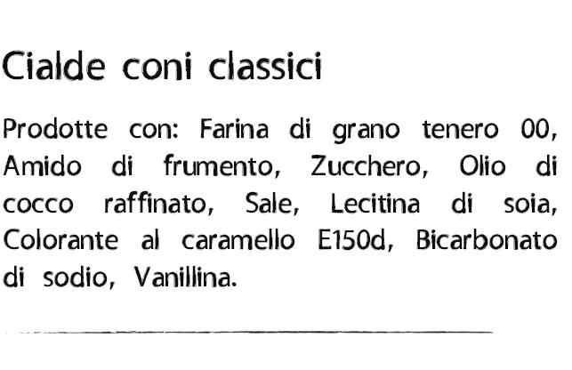 Ingredienti Cialde coni classici