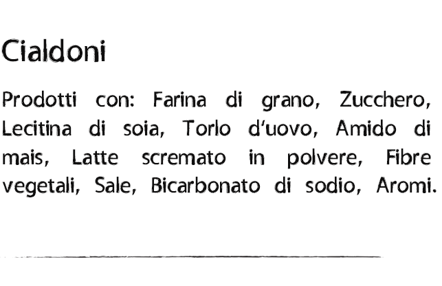 Ingredienti Cialdoni